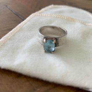 James Avery Julietta Blue Topaz Ring
